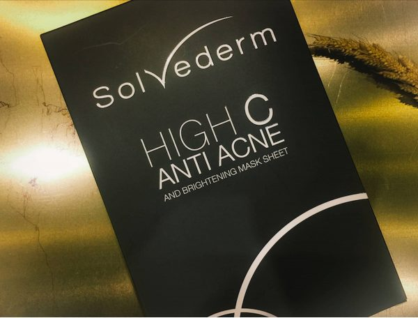 SOLVEDERM High C Anti Acne and Brightening Mask sheet